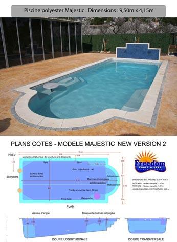coque piscine 15m